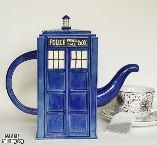 doctor who,Hall of Fame,nerdgasm,police box,tardis,tea