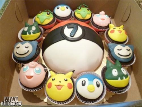 cupcake,dessert,food,nerdgasm,Pokémon,video game