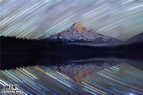 mother nature ftw,mountain,night,pretty colors,stars,time lapse