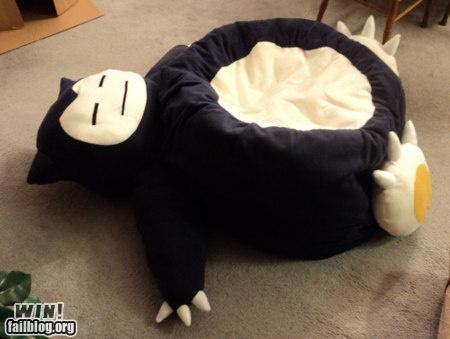 bean bag chair design furniture nerdgasm Pokémon video game - 5340447744
