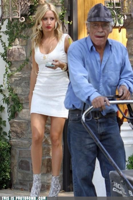 Ashley Tisdale,celeb kinda,Celebrity Edition,mowing,y u so sad