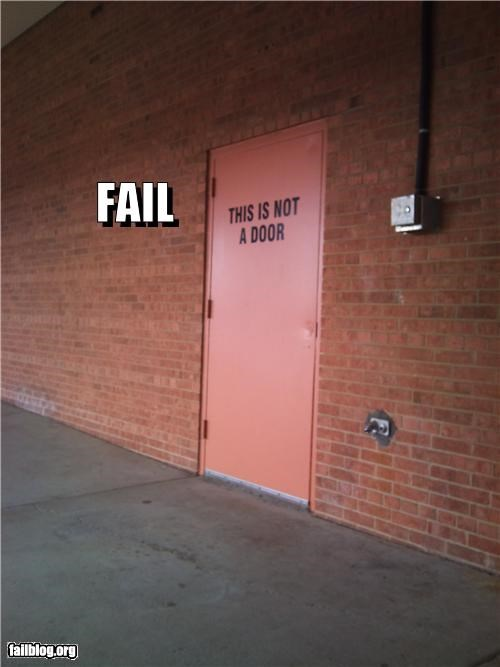 confusing door failboat g rated irony signs