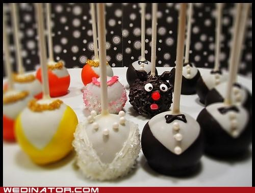 bridal party,cake pops,funny wedding photos,wedding cakes