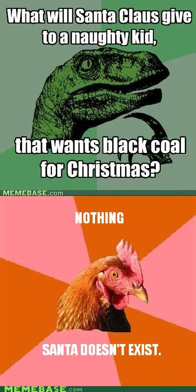 animemes,anti joke chicken,christmas,coal,existence,santa,spoilers