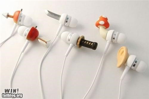 earbuds headphones ipod mp3 Music nerdy Tech - 5340802560