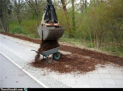 construction Professional At Work wheelbarrow