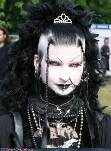 goth,staring into your soul,too much makeup