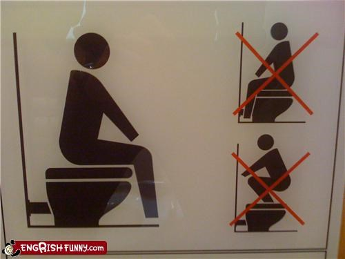 bathroom instructions doing it wrong public toilets - 5340982784