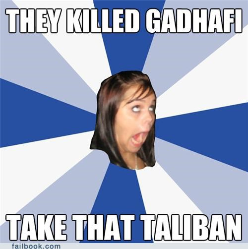 annoying facebook girl,Gadhafi,Memes,news