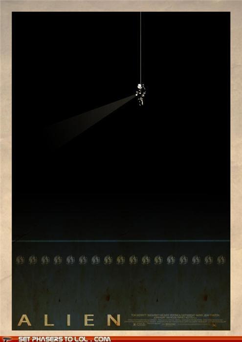 alien minimalism movie posters Predator Ridley Scott - 5341135104