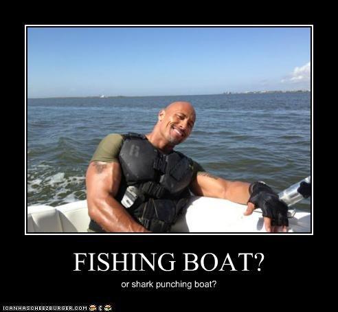 boats Dwayne Johnson fishing Hall of Fame punching sharks the rock - 5341474048