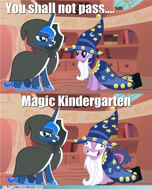 magic kindergarten,meme,shall not pass,trixie,twilight sparkle