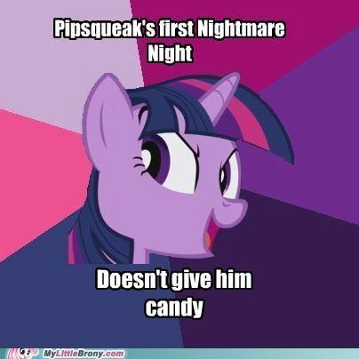 meme nightmare night no candy pipsqueak twilight sparkle - 5343211776