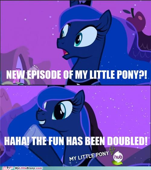 fun has been doubled luna meme my little pony princess - 5343390208