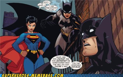 alternate universe,batman,ladies,Straight off the Page,superman