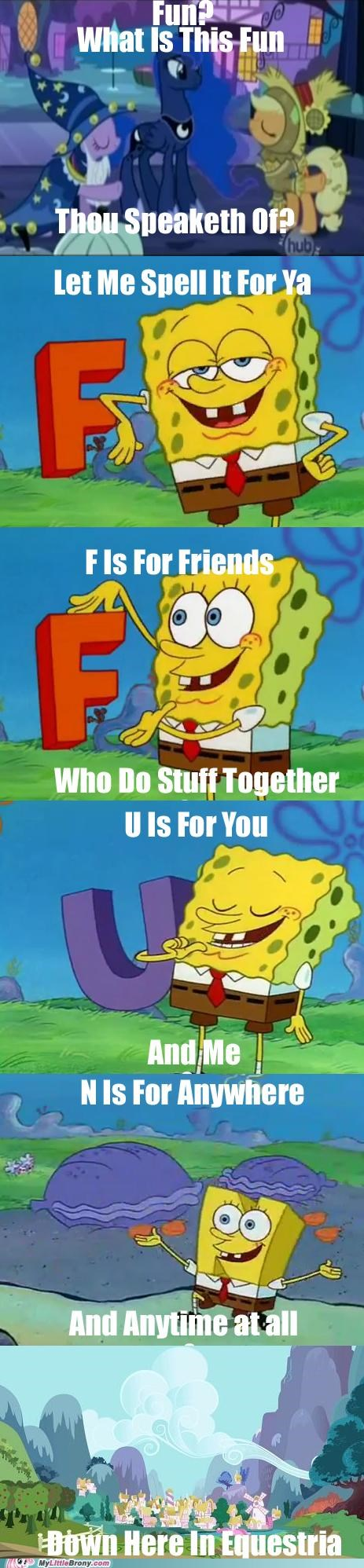 comics doubled f is for fun SpongeBob SquarePants - 5343586560