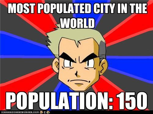 MOST POPULATED CITY IN THE WORLD POPULATION: 150