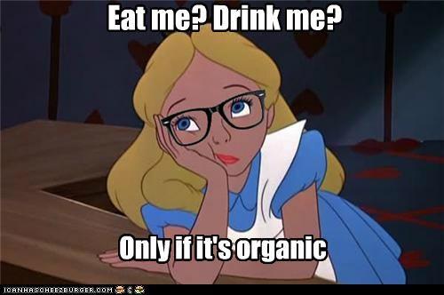 alice in wonderland eat me food hipster hipster-disney-friends organic - 5344098048