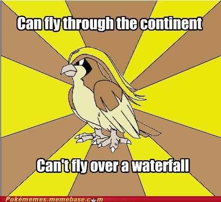 fly hms meme pidgeot waterflying waterfall - 5344213248