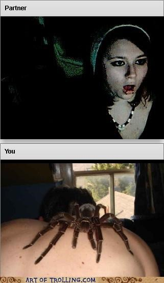Chat Roulette ew gross scary spider