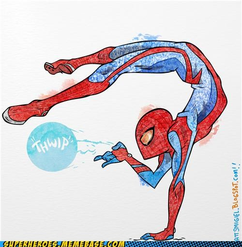 Awesome Art flexible Spider-Man thwip tweet - 5346109184