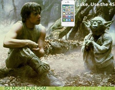 Command force Hall of Fame iphone 4s luke skywalker quote siri star wars use the force yoda - 5346162944
