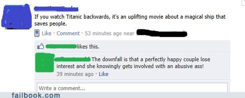 backwards,oh snap,titanic
