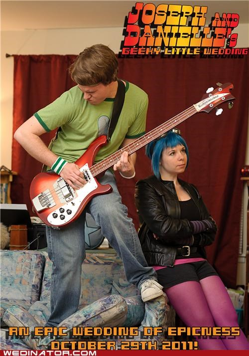 funny wedding photos,geek,invites,scott pilgrim,wedding invitations