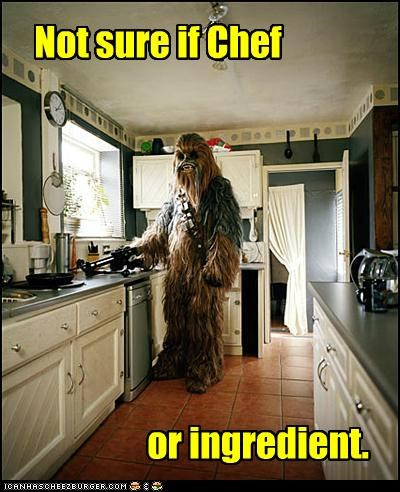 chef,chewbacca,cooking,ingredient,kitchen,star wars,wookie