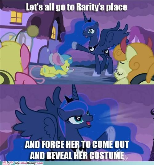 best of week costume meme nightmare moon nightmare night halloween pushing luna pushing patrick rarity - 5348658432