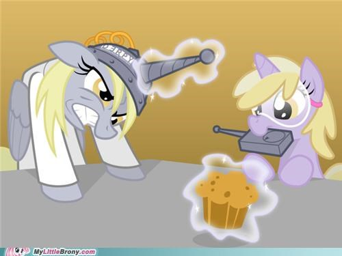 art derpy hooves dinky ditzy doo magic muffin science - 5348742912