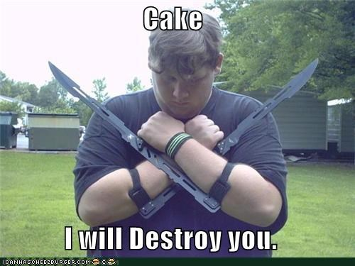cake,destroy,fat kid,swords,weird kid