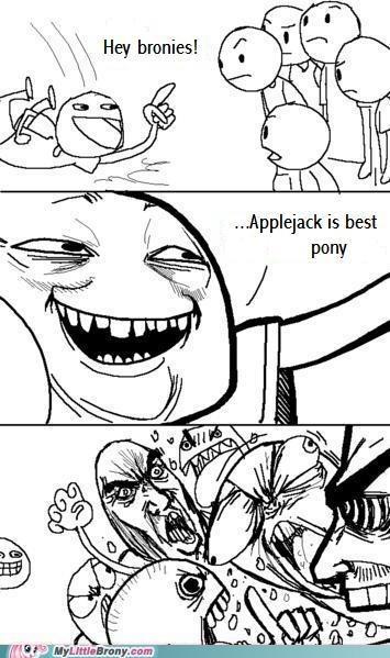 applejack arguing mane six meme - 5349898240