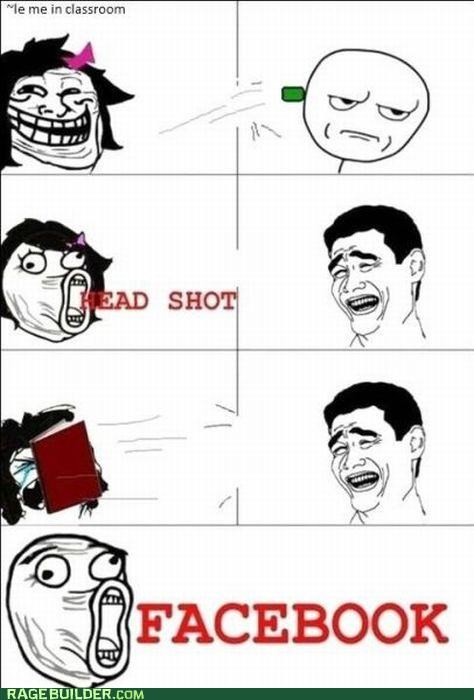 best of week,facebook,head shot,owned,Rage Comics