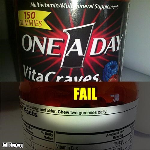 directions failboat g rated product fail stupidity vitamins - 5350758656