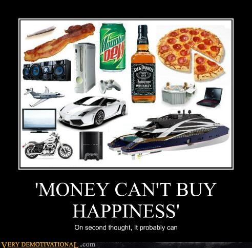 bacon,boat,booze,car,happiness,hilarious,money,pizza
