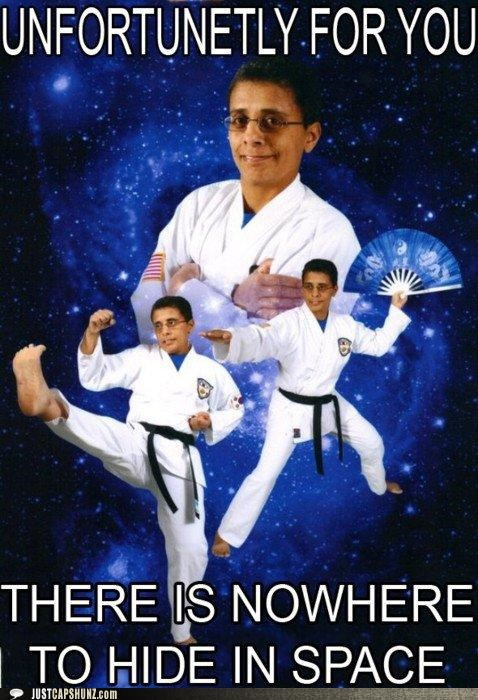 awesome karate karate chop ninja no where to hide outer space unfortunate - 5350958080