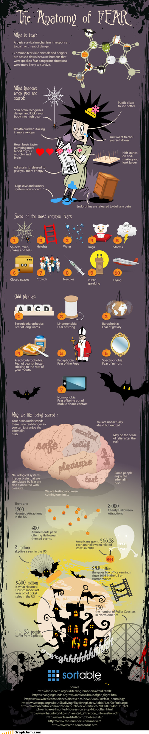fear,infographic,phobias,scared