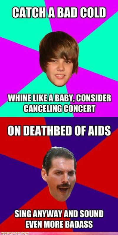 celeb,freddie mercury,Hall of Fame,justin bieber,meme,Music