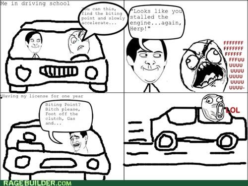 car driving Rage Comics stick shift - 5351409408