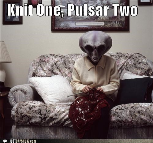 alien angry alien gramma angry alien grandma caption contest Knitta Please knitting - 5351434496