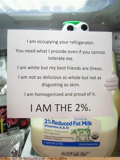 2 percent best of week IRL milk Occupy Wall Street - 5351478016