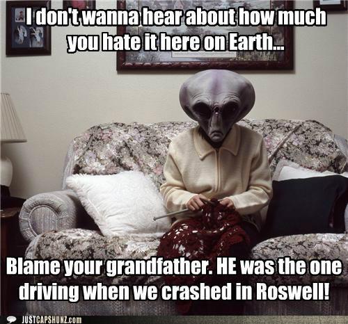 alien angry alien gramma caption contest crash earth knit Knitta Please knitting - 5351528960
