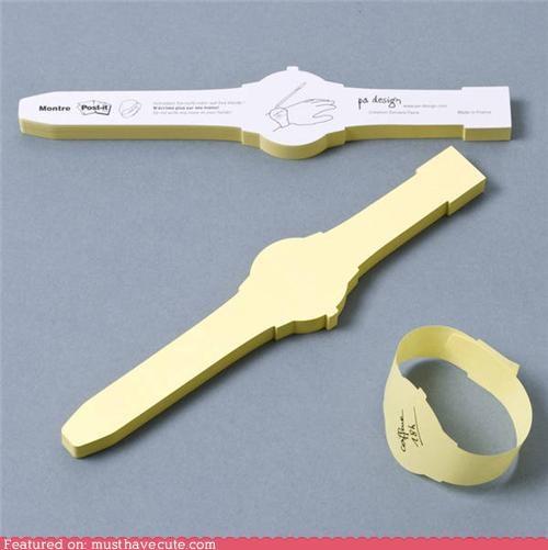 bracelet notepad paper watch - 5351552768