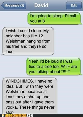 autocorrect noise sleeping welsh welshman windchimes - 5351567616