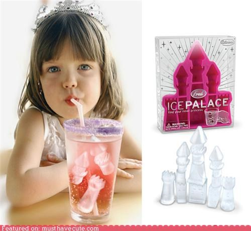 castle ice ice cubes palace princess tray
