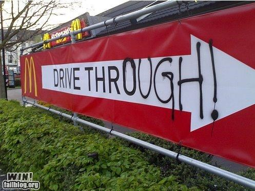 drive through fast food graffiti hacked irl McDonald's spelling vocabulary - 5351634688