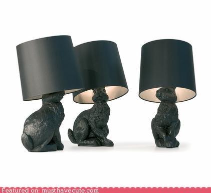 black gold lamp Party rabbit shade - 5351683584