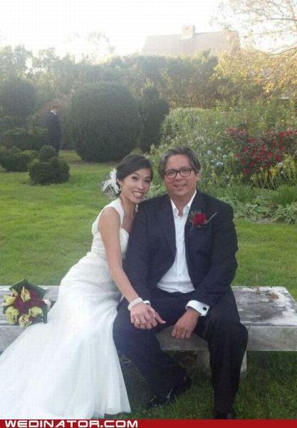 bride funny wedding photos groom photobomb scary - 5351748864