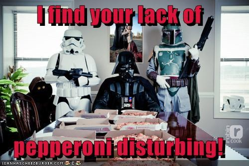 boba fett,darth vader,disturbing,pepperoni,pizza,star wars,stormtrooper